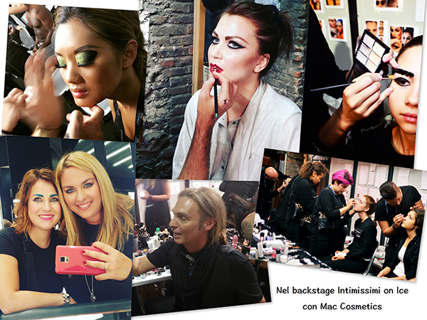 Nel backstage di Intimissimi On Ice con Mac Cosmetics